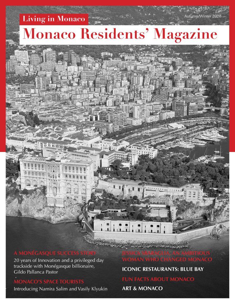 Monaco Residents' Magazine cover (Autumn/Winter 2020)