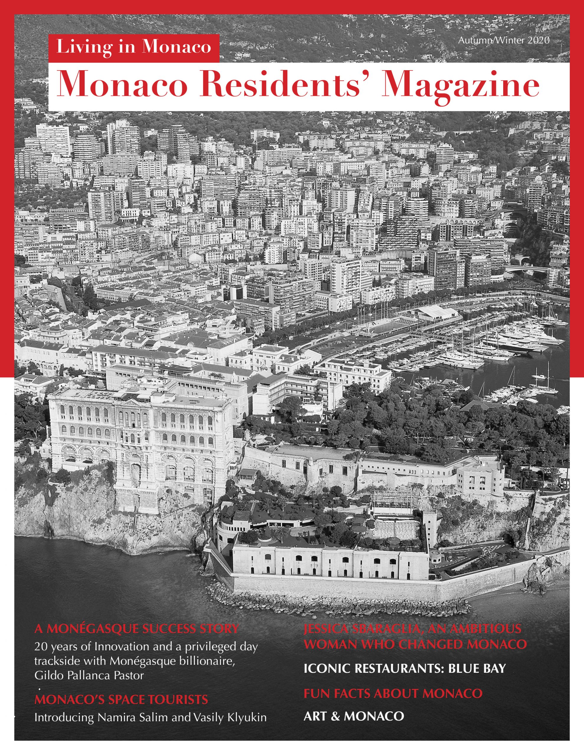 Monaco Residents' Magazine cover (Autumn/Winter 2020)