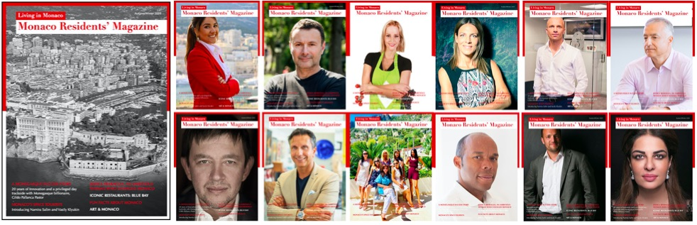 Monaco Residents' Magazine sample covers